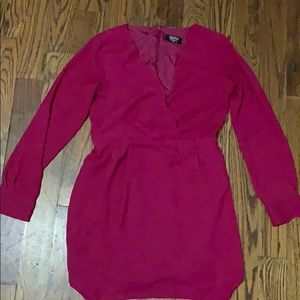 Guess dark fuschia dress so 6